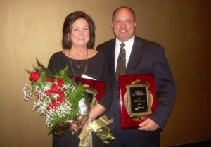 Cathy Self-Morgan and Mike  Chrietzberg, 2012 Woman and Man of the Year.