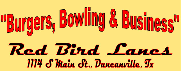 2015 Burgers,  Bowling & Business Flyer
